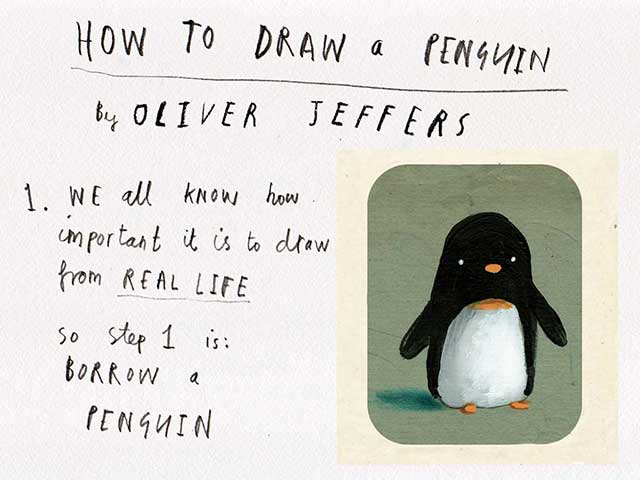 How to draw a penguin - Oliver Jeffers