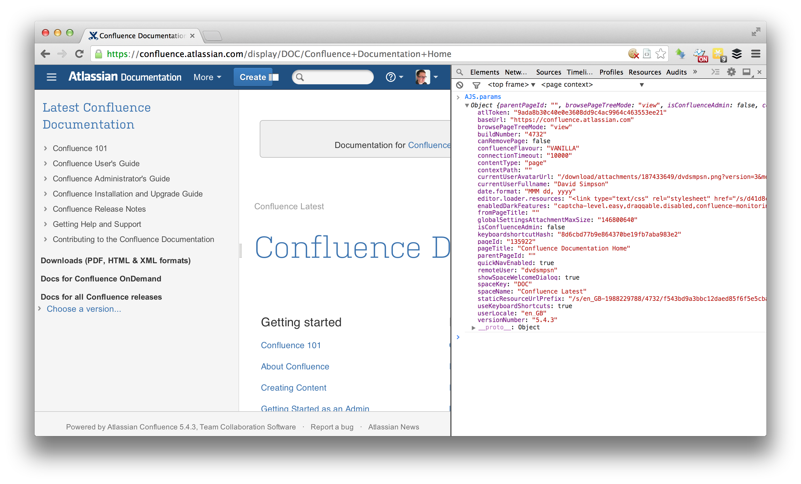 Extending AJS params in Atlassian Confluence – David Simpson
